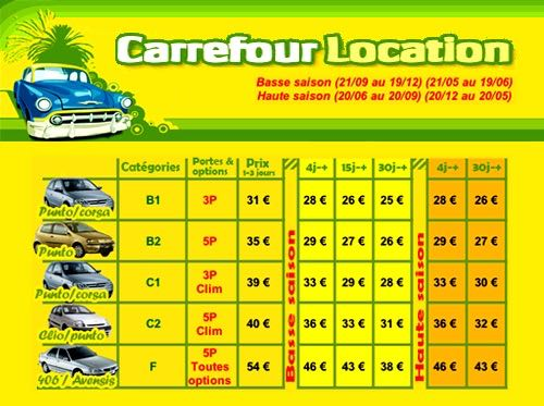 location voiture carrefour location 97122 baie mahault guadeloupe r servation. Black Bedroom Furniture Sets. Home Design Ideas